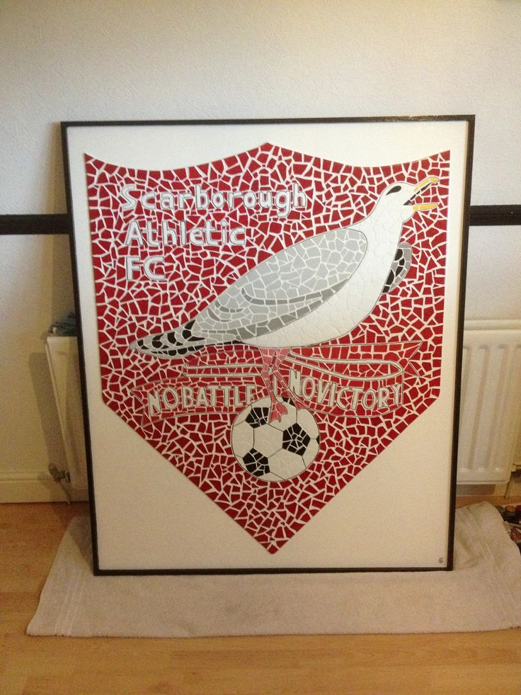 This mosaic was made for Scarborough Athletic and hangs proudly in their boardroom.