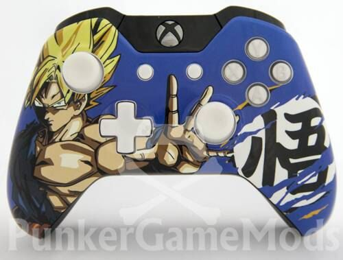 Goku DragonBall Z Xbox one controller by PunkerGameMods on Etsy - Visit now for 3D Dragon Ball Z shirts now on sale!