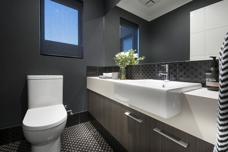 In awe of this stylish powder room.