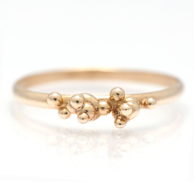 Yellow Gold Bubble Ring  14K Yellow Gold Bubble ring   $525