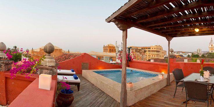 Piscine - Casa Pestagua Hotel Boutique Spa - 4 étoiles - Cartagena De Indias - Colombie #piscine #hotel #swimmingpool #cartagena #carthagène #colombie #patio #sérénité
