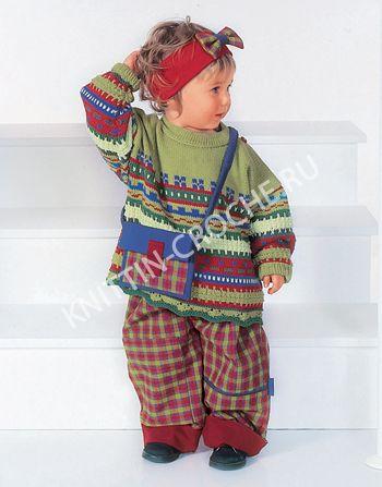 детский джемпер с узорами