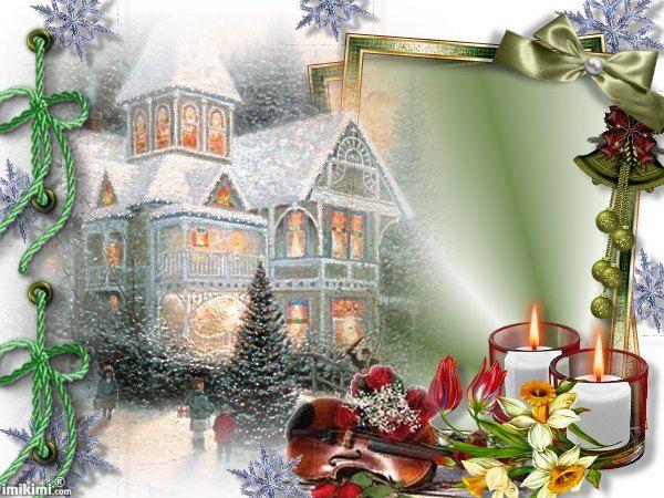 Christmas. Warm winter scene.