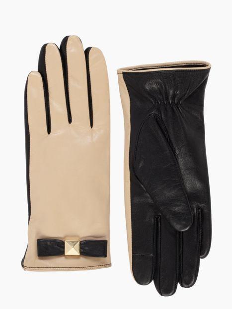pyramid bow leather glove