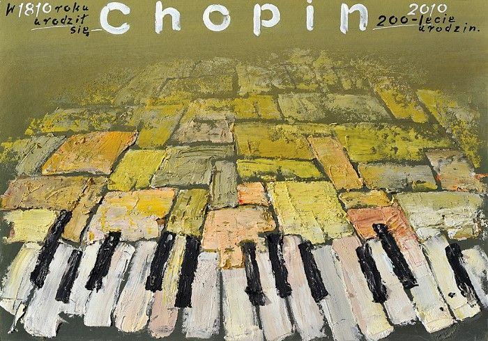 Fryderyk Chopin - 200 lecie urodzin  Original Polish poster  designer: Mieczyslaw Gorowski  year: 2012