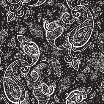 paisley wallpaper: Seamless Paisley background  Hand Drawn vector pattern