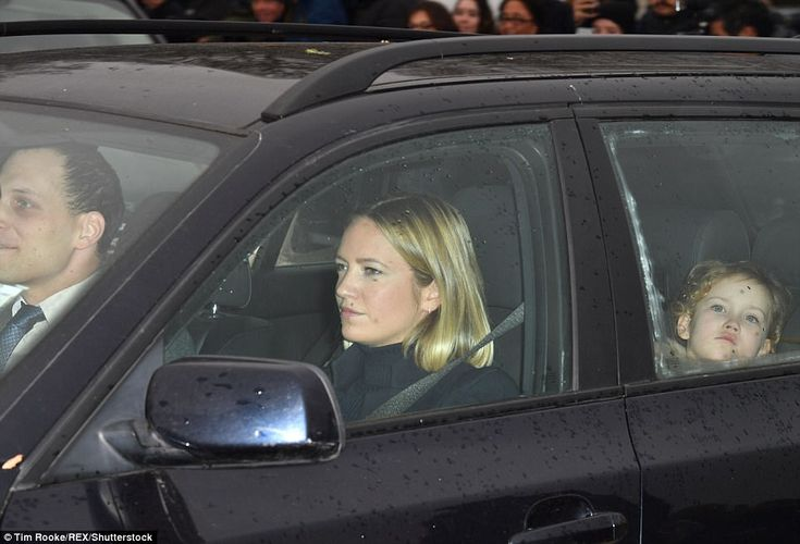 Lord Frederick Windsor drove his wife and daughter to the palace from their home in London on Wednesday