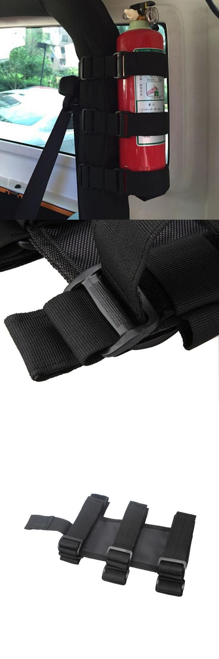 [Visit to Buy] Black Roll Bar Fire Extinguisher Holder Car Styling For Jeep Wrangler TJ YJ JK CJ 2016 New Arrival Nylon Straps Free Shipping #Advertisement