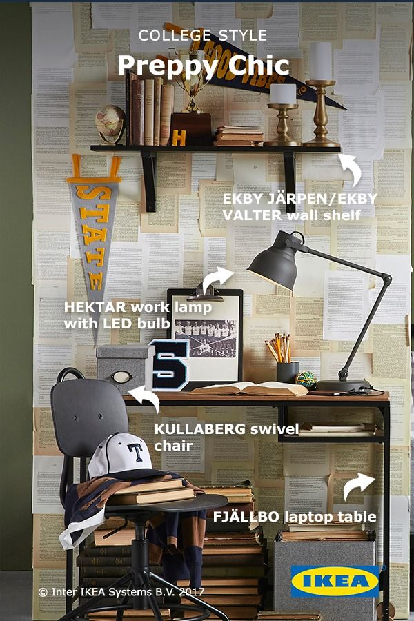 Serious students deserve serious study nooks  The IKEA FJ LLBO laptop table  is the perfect no. 236 best Back to College images on Pinterest