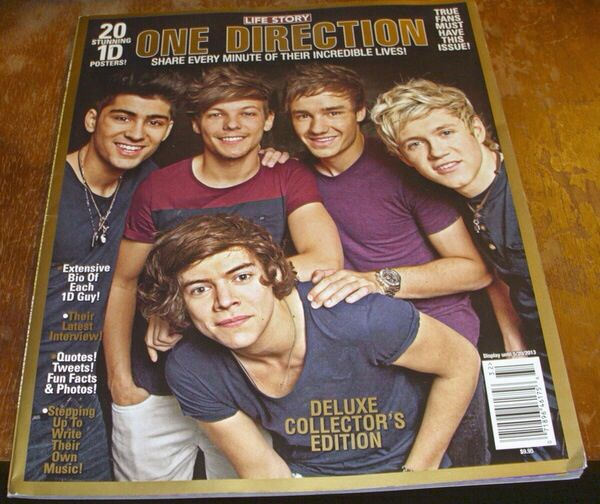One Direction on a magazine cover