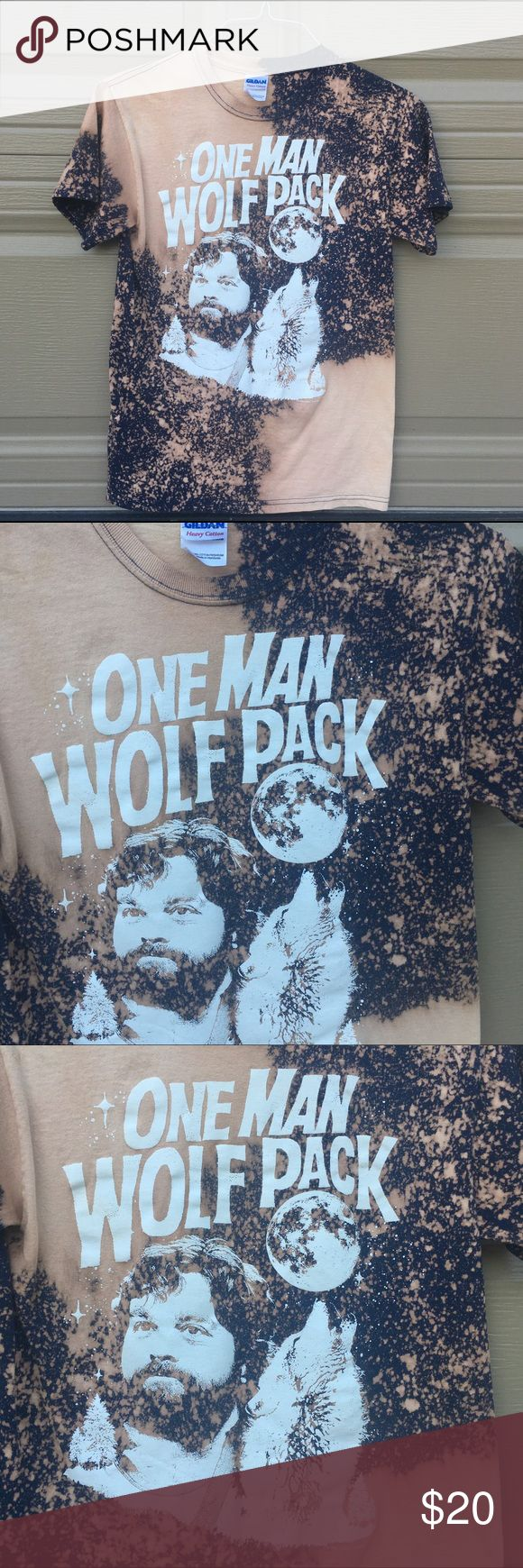 Bleached One Man Wolf Pack shirt Custom bleached by me! Men's size small. NOT ADIDAS. ONLY PUT THAT FOR LISTING PUBLICITY. adidas Shirts Tees - Short Sleeve