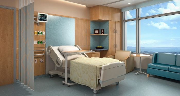 Acute Care Patient Room Like The Soft Blue Colors And