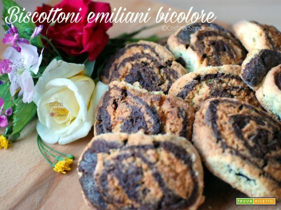Biscottoni emiliani bicolore, la ricetta di Anna Moroni  #ricette #food #recipes