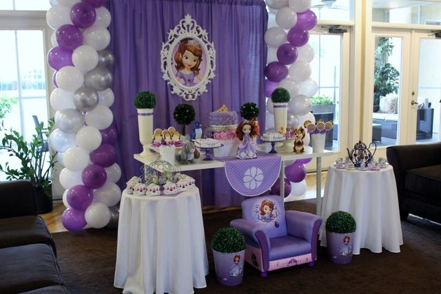 Sofia the first birthday party ideas birthdays the purple and first birthday parties - Th party theme ideas ...