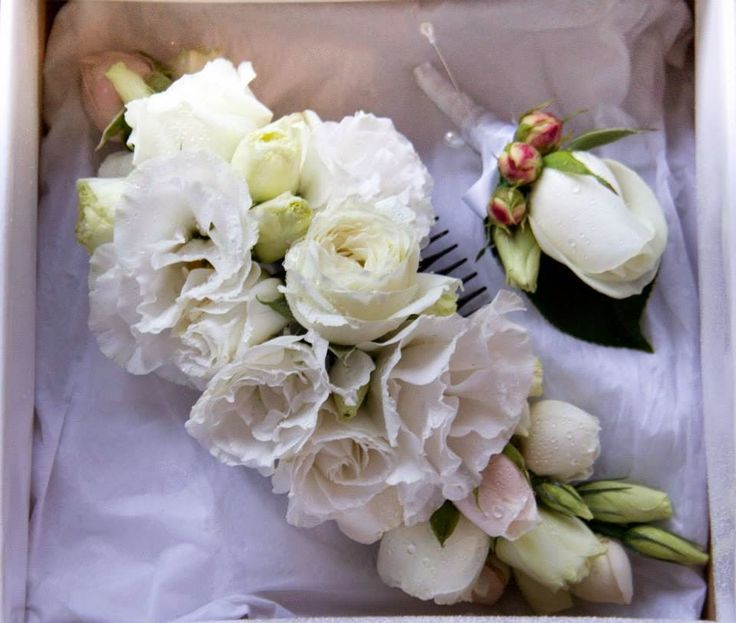 """Naomi Rose Floral Design: Preview """"Amy & Michael 11th January 2015"""" Fresh flower hair piece, fresh flower comb, roses, lisianthus,"""