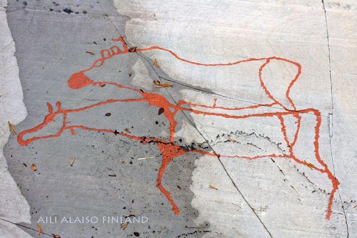 Altan kalliomaalauksia, Norge kuva Aili Alaiso