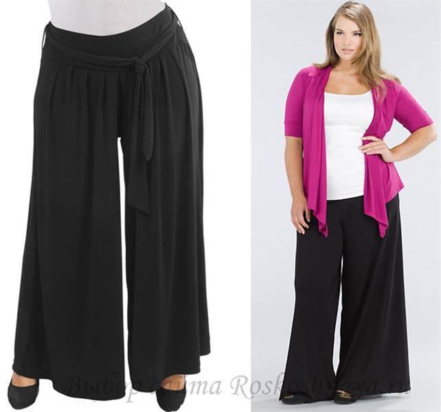 Летние брюки для толстых женщин