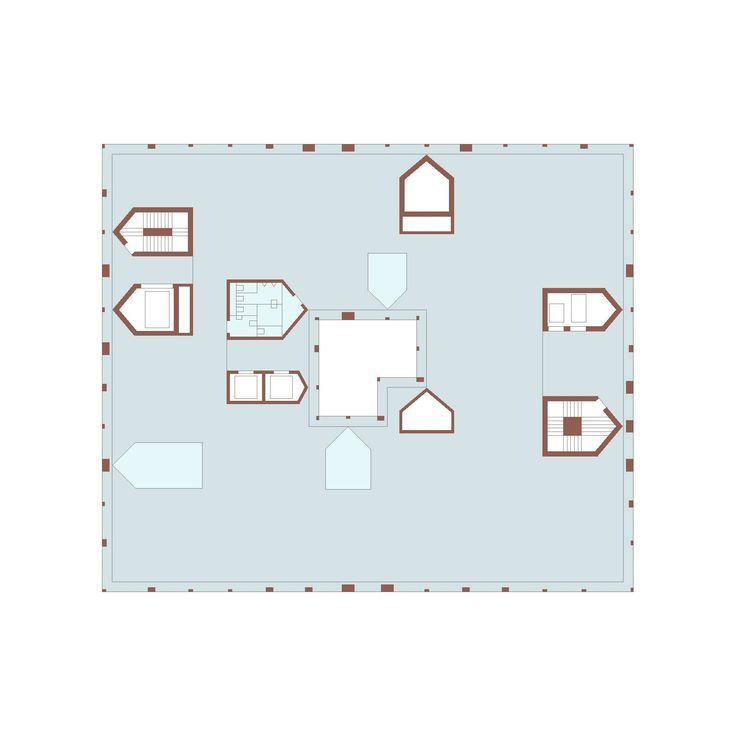 This is a floor plan of the new office building for Baloise Insurance Group in Basel, Switzerland by Valerio Olgiati