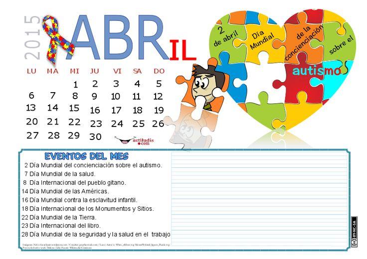 ACTILUDIS: Calendario mes de Abril