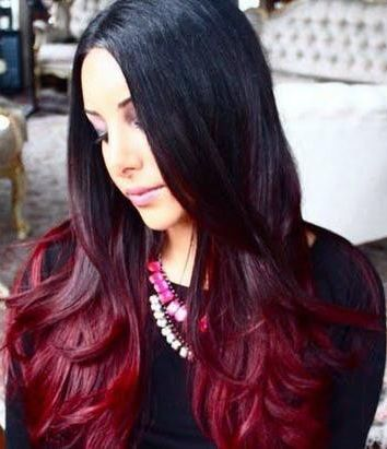 207 best extentions images on pinterest hairstyles braids and diy red ombre hair tutorial black to red fade hair color pmusecretfo Choice Image