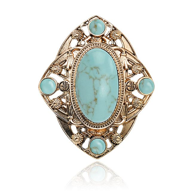 MIDNIGHT SKIES RING - TURQUOISE