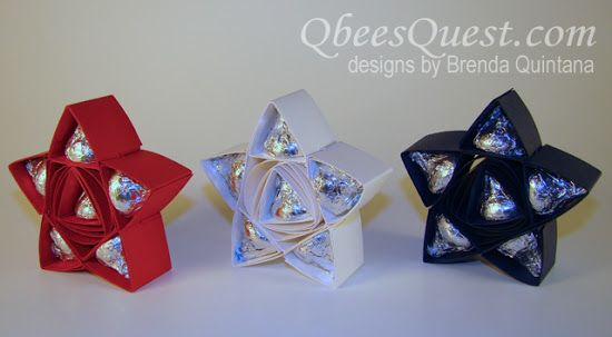 Hershey's Star Tutorial (5-point) | Hershey's Kisses, Simply Scored, July 4th, Independence Day, Stampin' Up