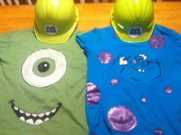 Monsters Inc Costumes Mike And Sully (:  So cute!