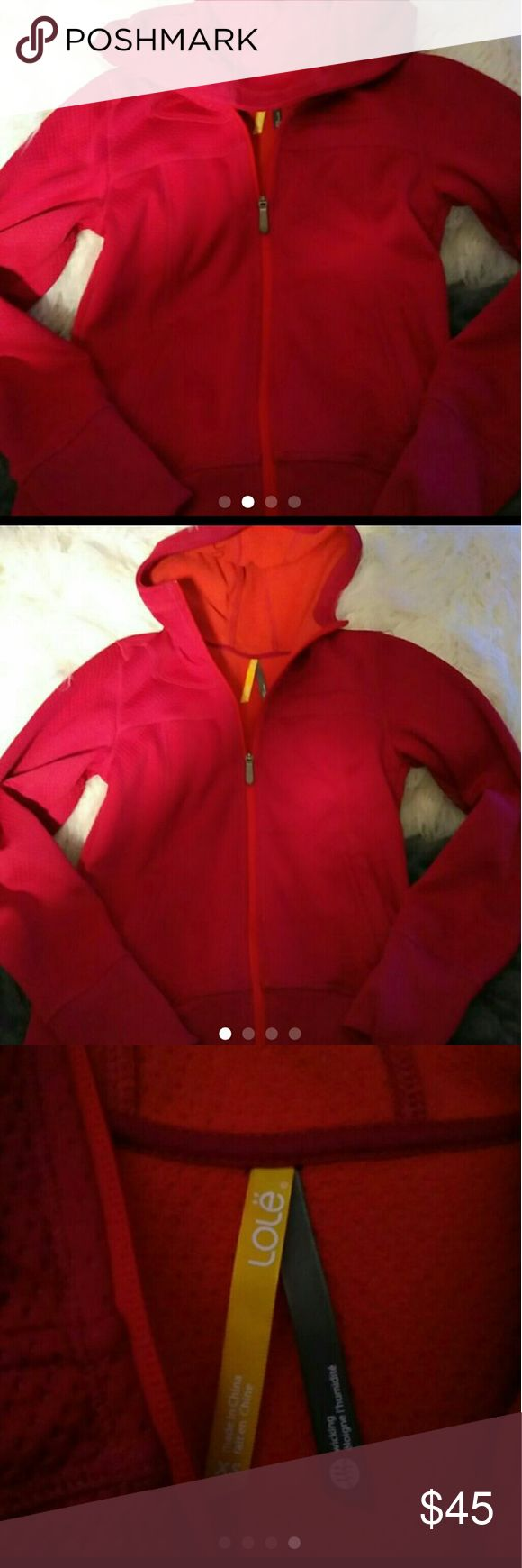 Lole Lole athletic jacket full zip bnwot has lole on hood this is more like a maroon color Lole Jackets & Coats