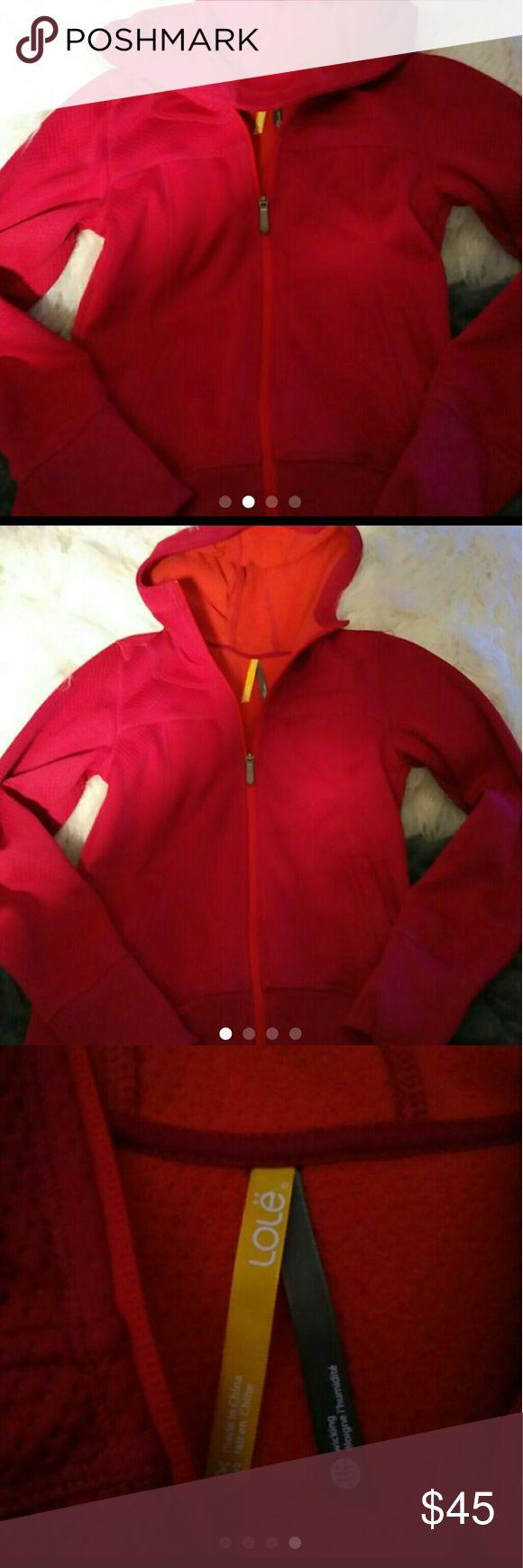 Lole Lole athletic jacket full zip bnwot has lole on hood this is more like a maroon color Lole Jackets & Coats