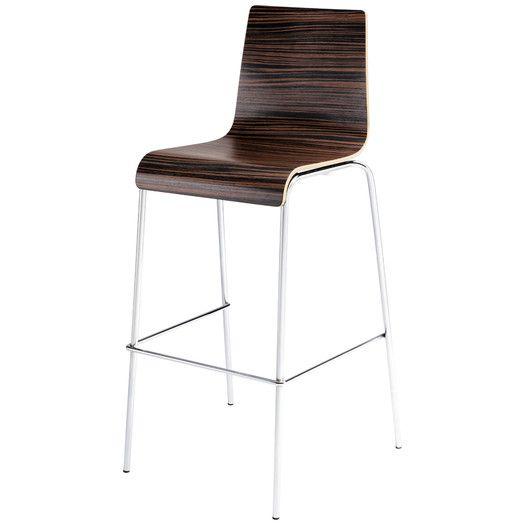 "Blu Dot Barstool Barstool | AllModern * in black, white, creme,** stripey wood - check this one agains floor 30.5"" seat H"