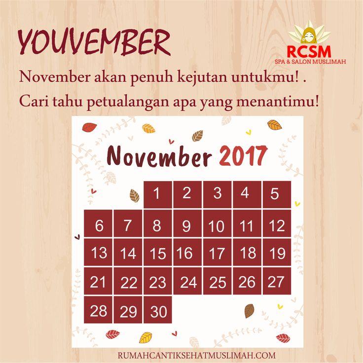 November akan penuh kejutan untukmu! . Cari tahu petualangan apa saja yang menantimu! . . http://rumahcantiksehatmuslimah.com/youvember/