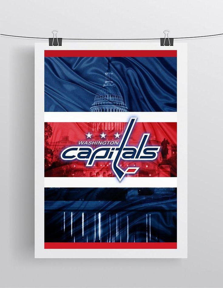 Washington Capitals Hockey Poster, Washington Capitals Gift, Capitals in front of the Capital, Washington Capitals Poster