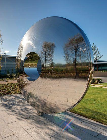 Torus stainless steel garden portal by david harber