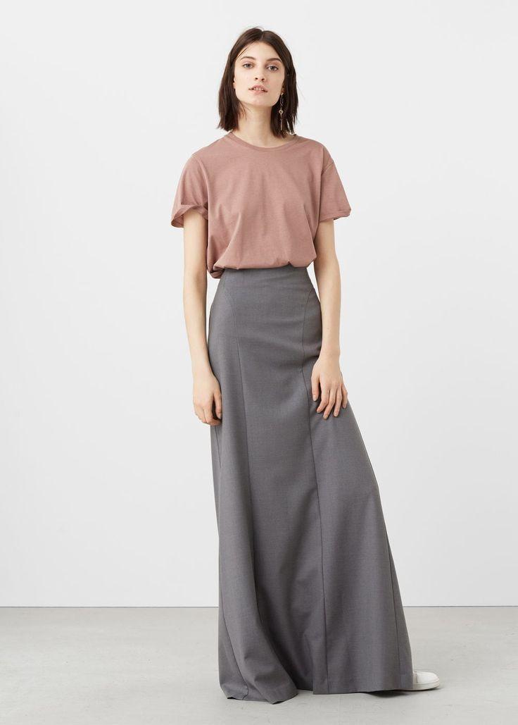 Stretch long skirt - Woman | MANGO United Kingdom