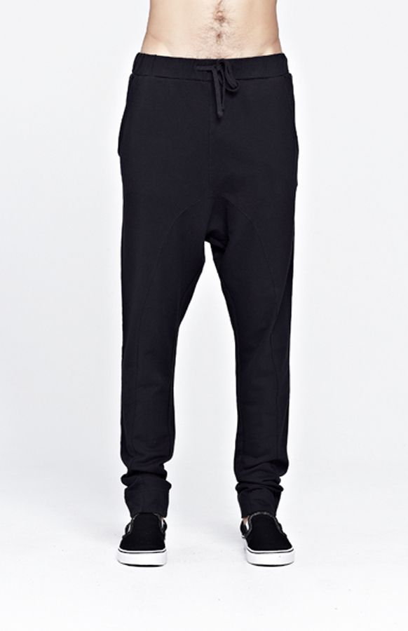 Commoners Fleece Pant, drop crotch style.  $139nzd with free shipping worldwide.   Shop here: http://www.needlesandthreads.co.nz/estore/style/com0093.aspx?c=66