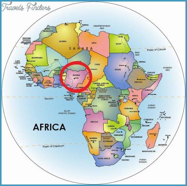 Nigeria Map - http://travelsfinders.com/nigeria-map.html