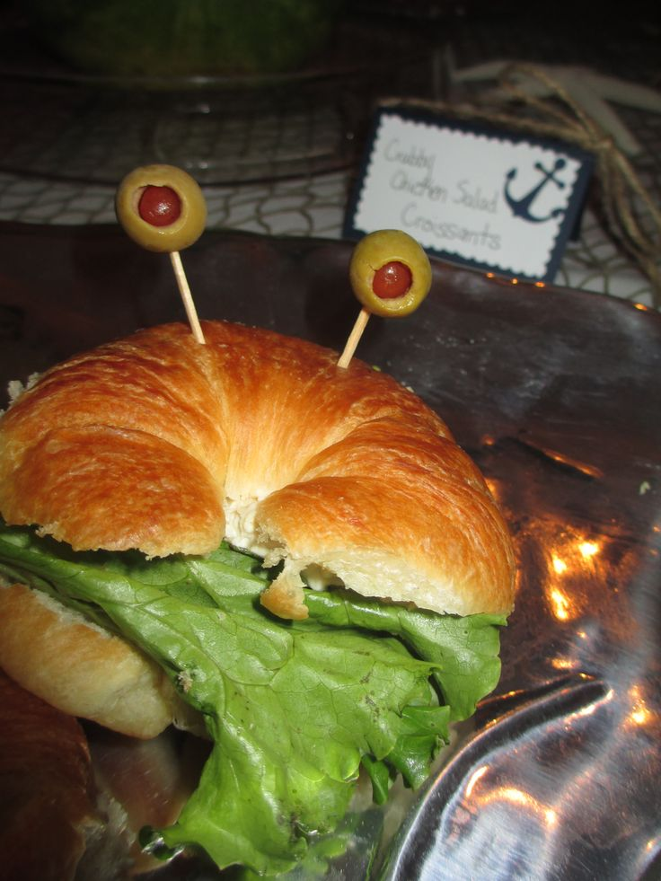 Nautical themed food: Crabby Chicken Salad Sandwiches