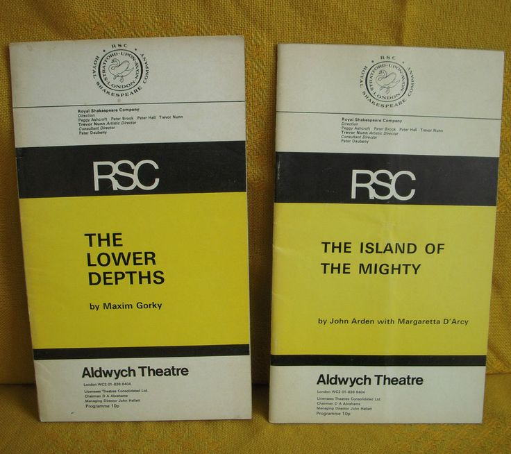 The Lower Depths + The Island of the Mighty RSC Aldwych Theatre Programmes 1970s