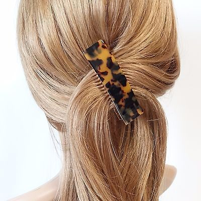 Cellulose Acetate Decorated 3 Prong Hair Clip Women Hair Accessories