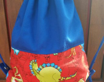 Personalized drawstring bag library bag by RazberriCreations