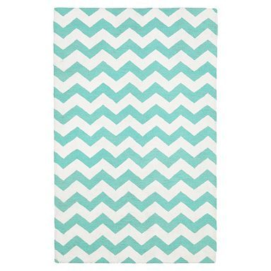 Teal Chevron Rug For Baby Nursery, Color Pool #pbteen