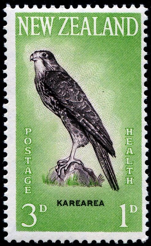 New Zealand postage stamp - Karearea