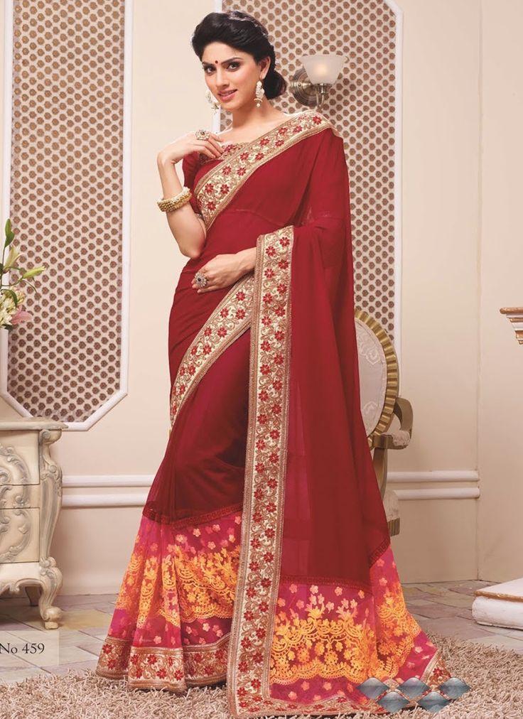Brown Party Wear Wholesale Sarees Online