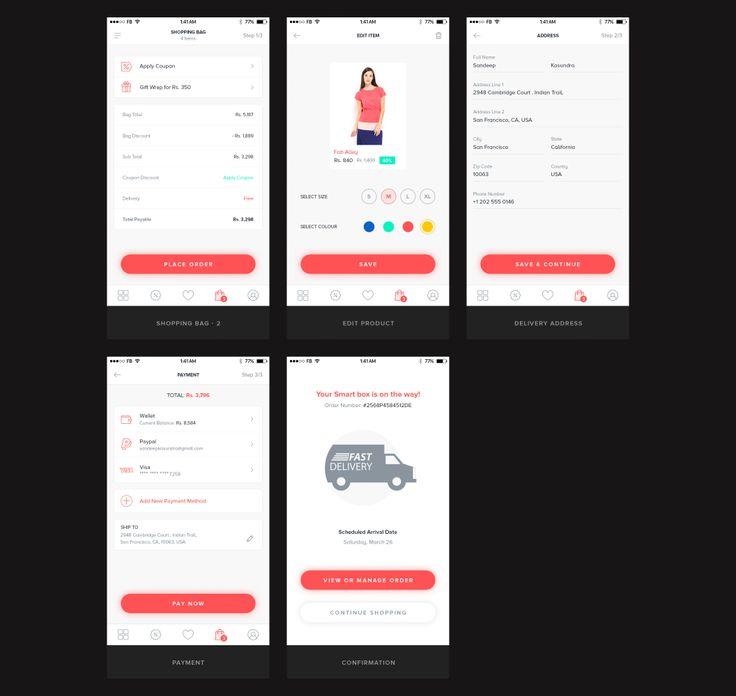 UI8 — Products — Ecommerce Mobile UI Kit