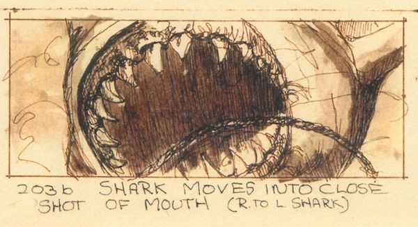 Jaws (1975)  Storyboard Artist: Joe Alves