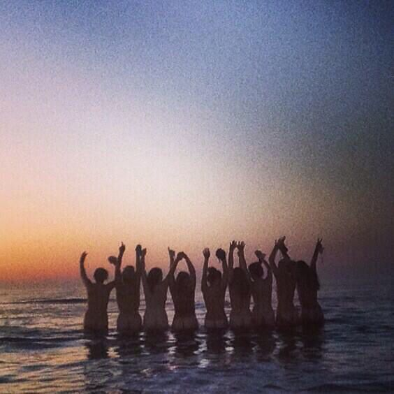 Girls Holiday 2014 Skinny Dipping in the Sunset