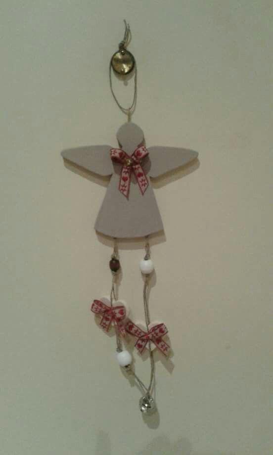 angelo natalizio in legno
