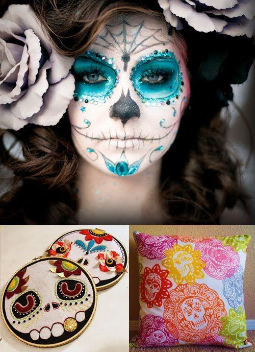 Sugar skull makeup! Omg this is beautiful!