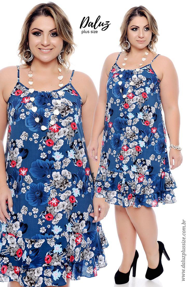 Vestido Plus Size Elianny  - Coleção Primavera Verão Plus Size - daluzplussize.com.br