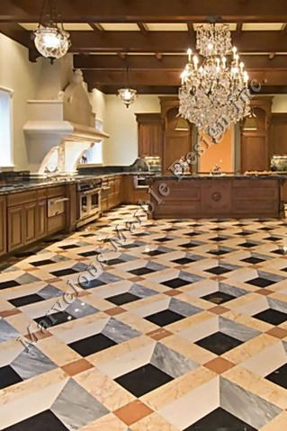 Custom Water Jet Marble Flooring Pattern California